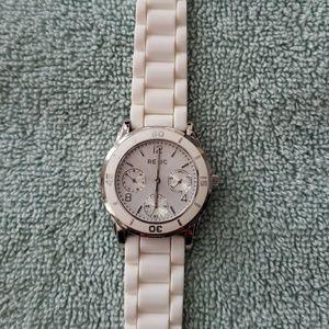 Relic White Multi-Dial Watch